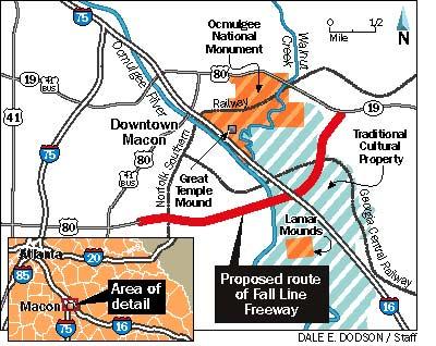 Eisenhower Parkway Extension Macon GA To - Georgia map fall line