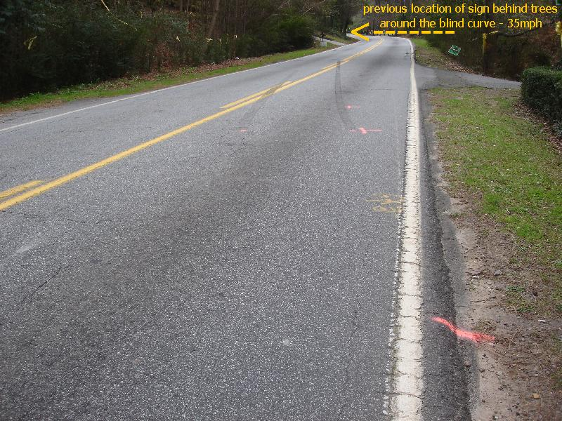 accident site missing safe speed